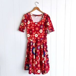NWT Lularoe Nicole Dress Sunflower Print